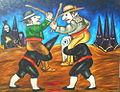 España profunda, oil on canvas, 89 x 116 cm. Date 2001-1.JPG