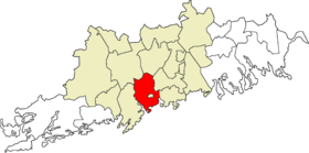 Location within the Uusimaa region and the Helsinki sub-region