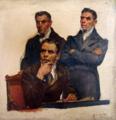 Estudo de figuras humanas para a tela Cortes Constituintes de 1821 (José Bastos, Francisco Pessanha, Tibúrcio Feio) - Veloso Salgado, 1920.png