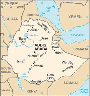 Kort over etiopien - Blauwe agency ...