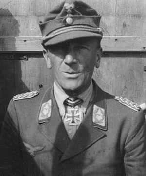 Luftwaffe Field Division - General Eugen Meindl, the commander of I. Luftwaffe Field Corps