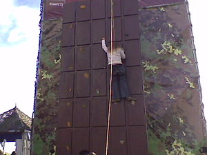 EuroChocolate - A climbing wall made to look like chocolate, at EuroChocolate 2009