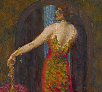 Decadent movement - Image: Evfimia Nosova (Ryabushinskaya) by N.Feofilaktov (1913, priv.coll)
