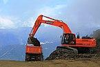 Excavator on the Aibga ridge.JPG