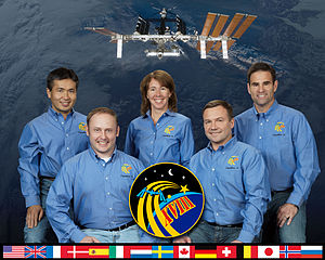 Expedition 18 - Image: Expedition 18 crew portrait