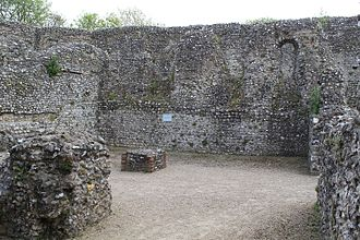 Eynsford Castle - The undercroft of the hall