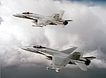 F-18A Hornets of VFA-303 over Southern California 1989.jpeg