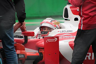 Charles Leclerc (racing driver) - Leclerc at the 2017 Formula 2 race at the Autodromo Nazionale Monza in Italy