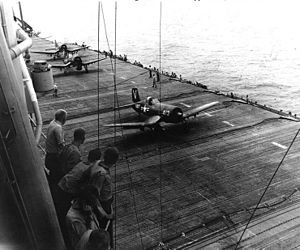 VF-114 - F4U-4B Corsairs taking off from the USS Philippine Sea in 1950