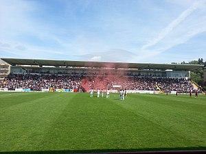 F.C. Penafiel - Estádio 25 Abril during a match in the 2013–14 season.