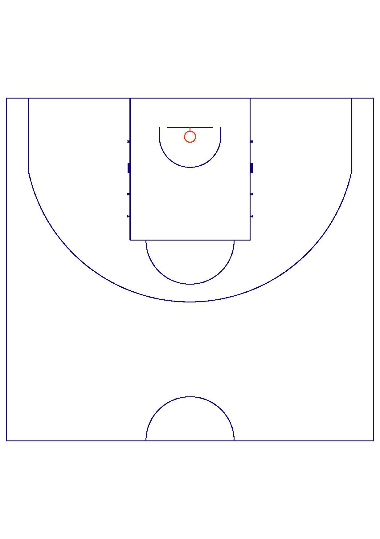 File fiba court dimensions wikimedia commons for Size of half court basketball court
