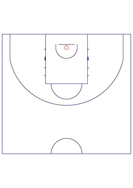 Basketball half court dimensions basketball scores for What are the dimensions of a half court basketball court