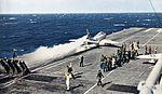 FJ-4B Fury of VA-216 is launched from USS Lexington c1961.jpg