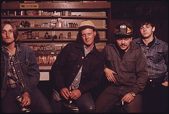 Clothier, West Virginia - Image: FOUR YOUNG MEN GATHER IN A BEER JOINT IN CLOTHIER, WEST VIRGINIA, NEAR MADISON. THEY ARE LEFT TO RIGHT MICHAEL DOSS... NARA 556440