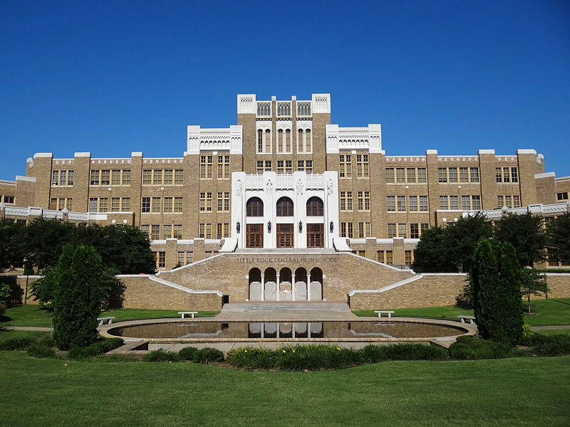 File:Facade of Central High School - Little Rock - Arkansas - USA - 01.jpg