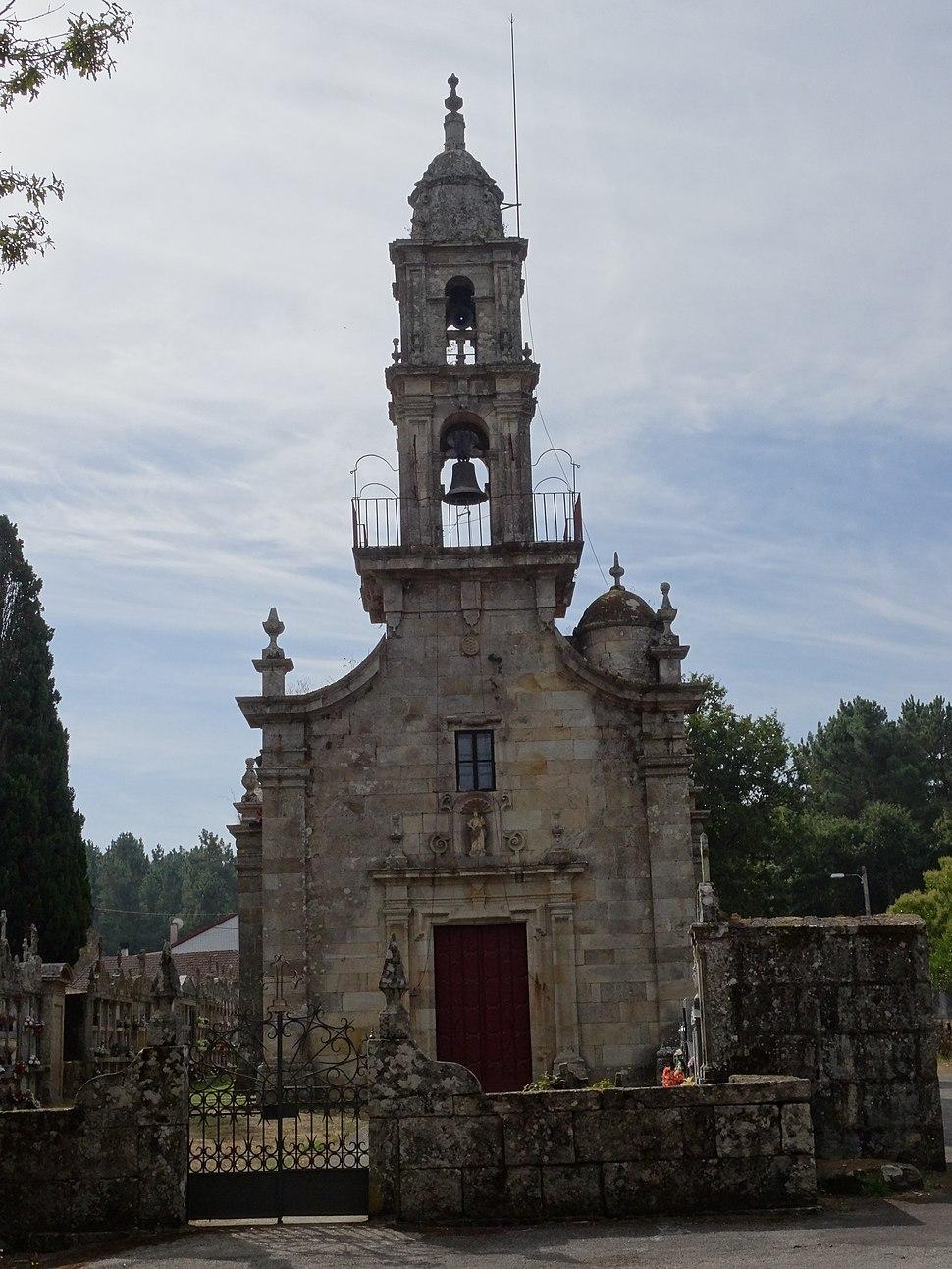 Fachada igrexa Grixoa, San Amaro
