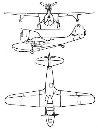 Fairchild 91 - Fairchild A-942 3-view drawing from L'Aerophile May 1936