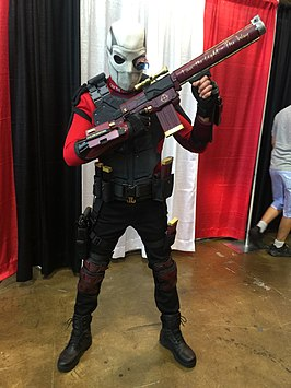 Cosplayer Deadshot tijdens Fan Expo Canada 2016.