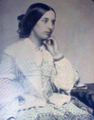 John Keats - Ambrotype of Fanny Brawne taken circa 1850 (photograph on glass)