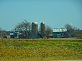 Farm with Two Silos North of Baraboo - panoramio.jpg