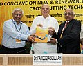"Farooq Abdullah releasing a compendium of projects on R&D, at the ""R&D Conclave on New & Renewable Energy Prospects for Cross cutting Technologies"", in New Delhi on August 09, 2012.jpg"