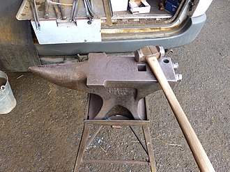 Farrier - Image: Farrier Jim Knock Bracken Tools