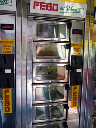 FEBO - The 'automatiek' is a typical Dutch vending machine.