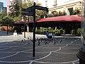 Feeding the pigeons on the pedestrianized Nizami St. in Baku (36234392054).jpg