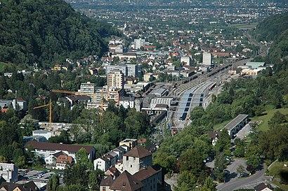 So kommt man zu Bahnhof Feldkirch mit den Öffentlichen - Mehr zum Ort Hier