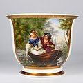 """Ferdinand Theodor Hildebrandt (1804-1874) """"Warnung vor der Wassernixe"""", Porzellanmalerei, Tasse, D2105.jpg"""