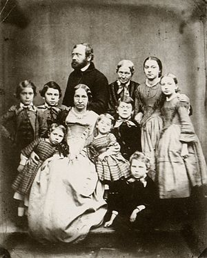 Fritz von Miller - The family of Ferdinand von Miller in 1855