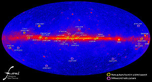 Astronomical survey - Gamma-ray pulsars detected by the Fermi Gamma-ray Space Telescope