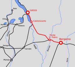 Ferrovia Lecco-Bergamo - Wikipedia