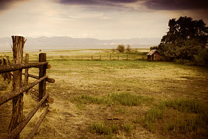 Antelope Island State Park - A view of the ranch