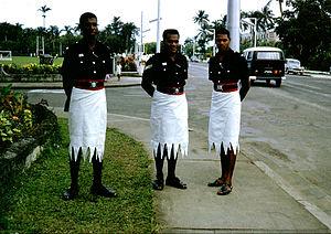 Fijians - Fijian policemen in Suva, 1967
