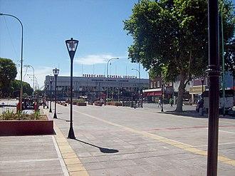Federico Lacroze railway station - Image: Final de Avenida Corrientes estación Lacroze