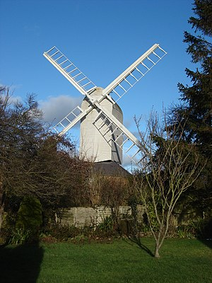 Duck End Mill, Finchingfield - Image: Finchingfield post Windmill