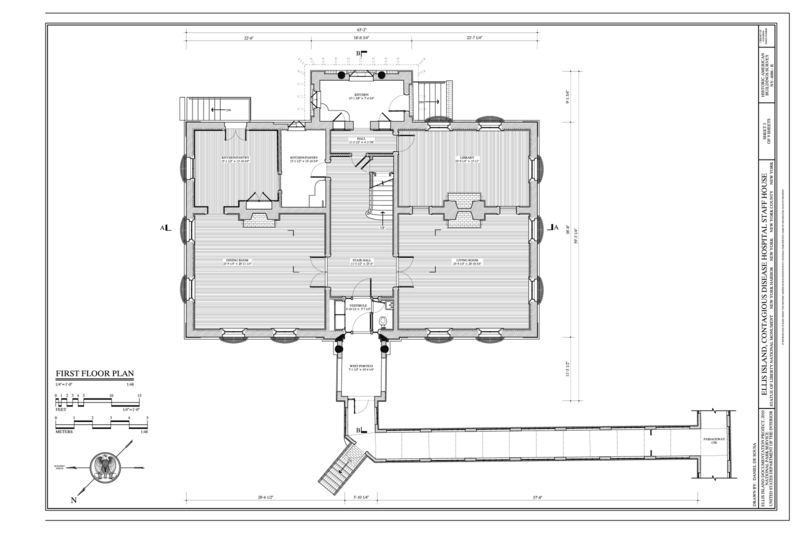 File first floor plan ellis island contagious disease for New york house plans