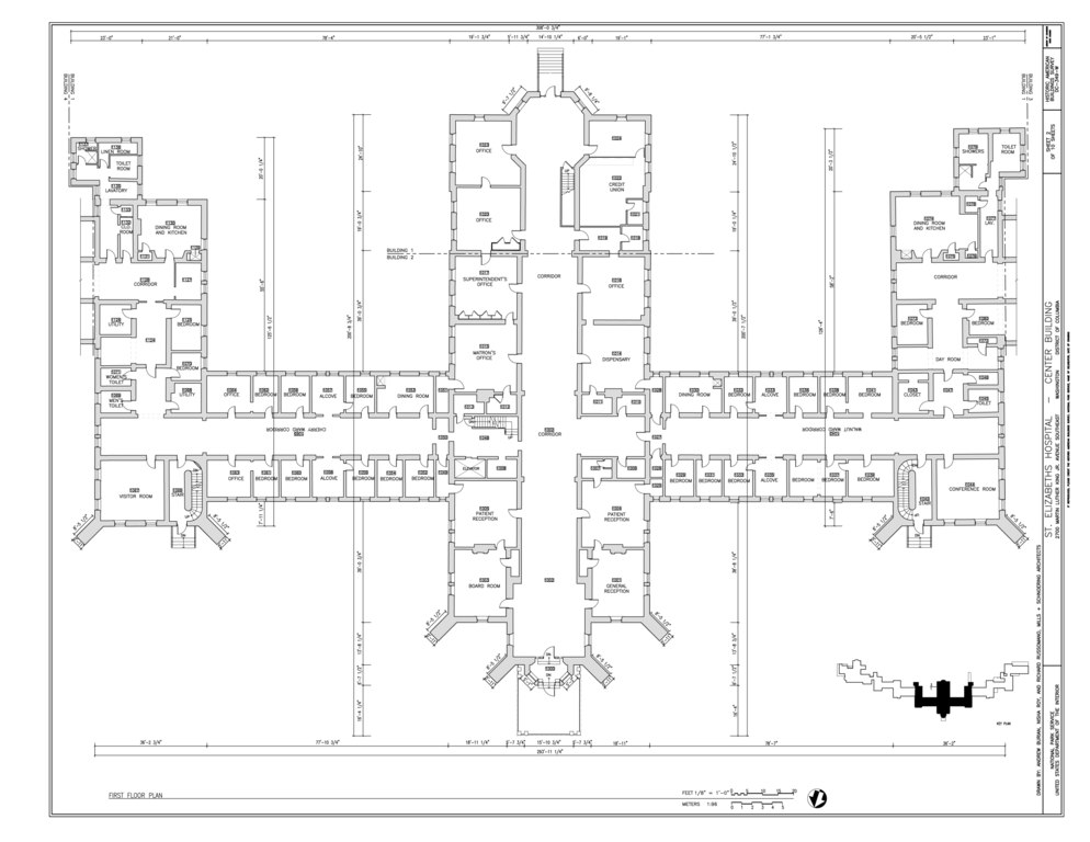 File first floor plan st elizabeths hospital center for 539 plan