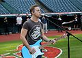 Five-time Grammy nominee Hunter Hayes performs his national anthem soundcheck, hours before Game 6 of the World Series. (30679471576).jpg