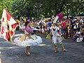 Flag bearer couple of Samba el Gambo at Helsinki Samba Carnaval 2019.jpg