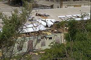 Effects of Hurricane Sandy in the Greater Antilles - Hurricane Sandy damage in Guantanamo Bay