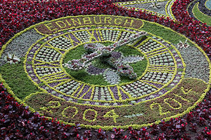 Floral clock - Image: Floral Clock Edinburgh 2014