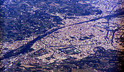 Florence, Italy - aerial view
