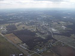 Georgetown's north side from the air
