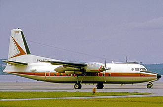 Pertamina - Fokker F.27 Series 200 Friendship of Pertamina used for transport of employees and equipment during the 1970s