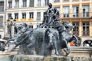 fountain in Lyon, France