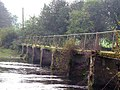 Footbridge across River Lee at Carrignacurra Castle, Inchigeelagh - geograph.org.uk - 734653.jpg
