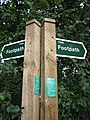 Footpath fork, left to Dodnash Wood, right to East End - geograph.org.uk - 498469.jpg