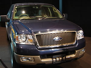 English: A blue Ford F150, taken at Hamilton, ...